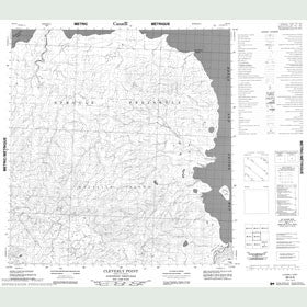 Canadian Topo Map - Cleverly Point - Map 089A06