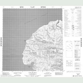 Canadian Topo Map - Cape de Bray - Map 089B01