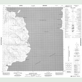 Canadian Topo Map - Snowpatch Point - Map 089B06