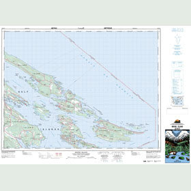 Canadian Topo Map - Mayne Island - Map 092B14