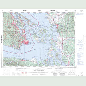 Canadian Topo Map - Victoria - Map 092B