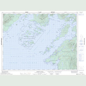 Canadian Topo Map - Barkley Sound - Map 092C14