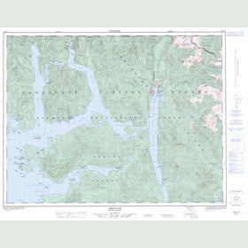 Canadian Topo Map - Zeballos - Map 092E15
