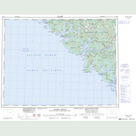 Canadian Topo Map - Nootka Sound - Map 092E