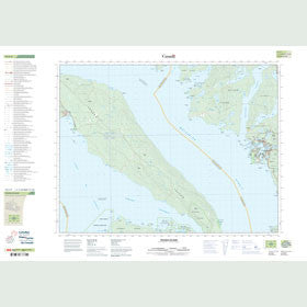 Canadian Topo Map - Texada Island - Map 092F09