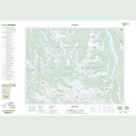 Canadian Topo Map - Buttle Lake - Map 092F12