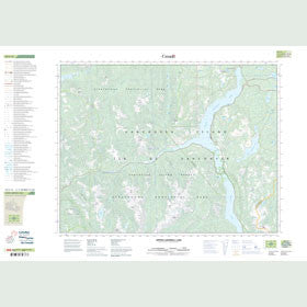 Canadian Topo Map - Upper Campbell Lake - Map 092F13