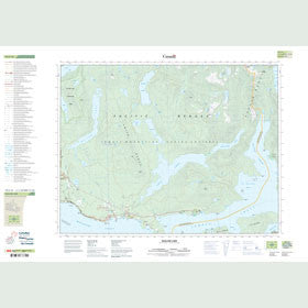 Canadian Topo Map - Haslam Lake - Map 092F16
