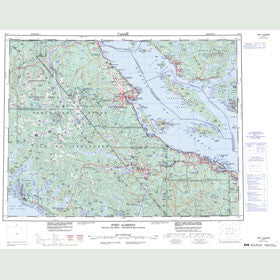 Canadian Topo Map - Port Alberni - Map 092F