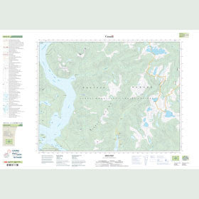 Canadian Topo Map - Jervis Inlet - Map 092G13
