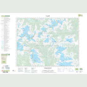 Canadian Topo Map - Mamquam Mountain - Map 092G15