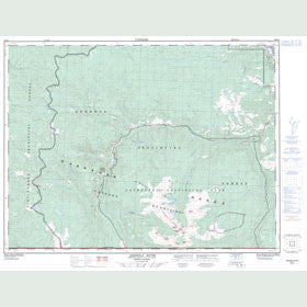 Canadian Topo Map - Ashnola River - Map 092H01