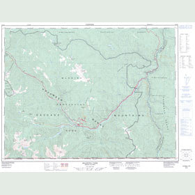 Canadian Topo Map - Manning Park - Map 092H02