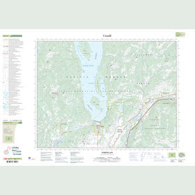 Canadian Topo Map - Harrison Lake - Map 092H05