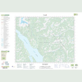 Canadian Topo Map - Mount Urquhart - Map 092H12