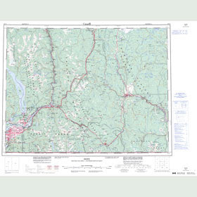 Canadian Topo Map - Hope - Map 092H