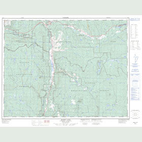 Canadian Topo Map - Mamit Lake - Map 092I07