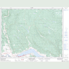 Canadian Topo Map - Tranquille River - Map 092I15