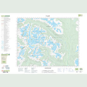 Canadian Topo Map - Clendinning Creek - Map 092J05