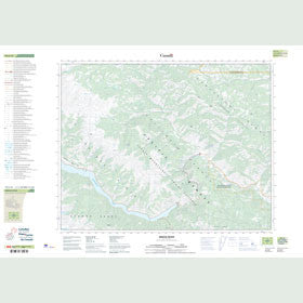 Canadian Topo Map - Bridge River - Map 092J16