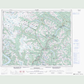 Canadian Topo Map - Pemberton - Map 092J