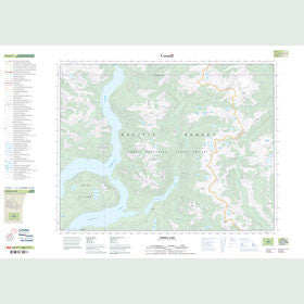 Canadian Topo Map - Powell Lake - Map 092K01