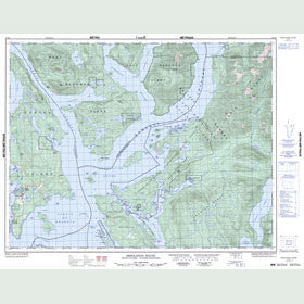 Canadian Topo Map - Desolation Sound - Map 092K02