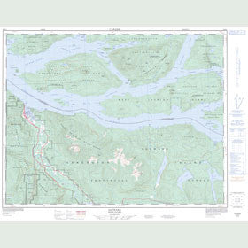 Canadian Topo Map - Sayward - Map 092K05