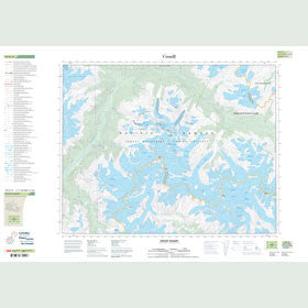Canadian Topo Map - Mount Gilbert - Map 092K16