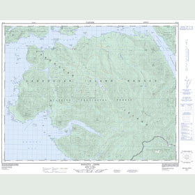 Canadian Topo Map - Mahatta Creek - Map 092L05
