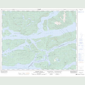 Canadian Topo Map - Minstrel Island - Map 092L09