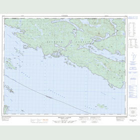 Canadian Topo Map - Bradley Lagoon - Map 092L14