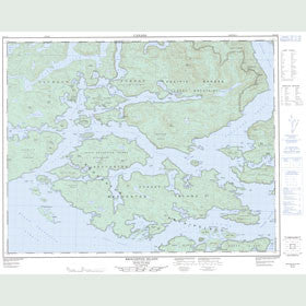 Canadian Topo Map - Broughton Island - Map 092L15