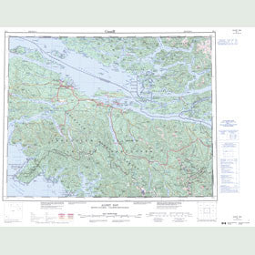 Canadian Topo Map - Alert Bay - Map 092L
