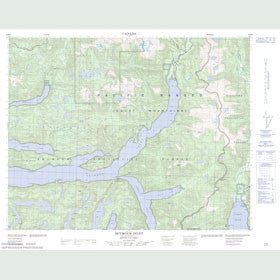 Canadian Topo Map - Seymour Inlet - Map 092M02