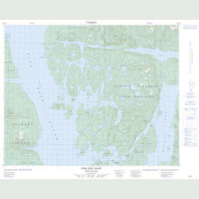 Canadian Topo Map - Fish Egg Inlet - Map 092M12