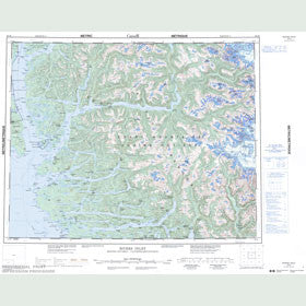 Canadian Topo Map - Rivers Inlet - Map 092M