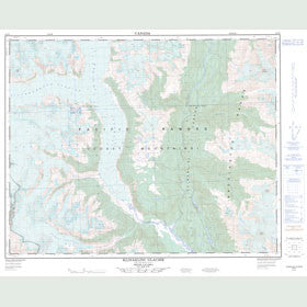 Canadian Topo Map - Klinaklini Glacier - Map 092N05