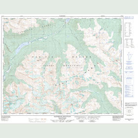 Canadian Topo Map - Razorback Mountain - Map 092N10