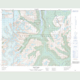 Canadian Topo Map - Knot Lakes - Map 092N13
