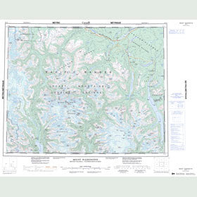 Canadian Topo Map - Mount Waddington - Map 092N