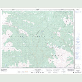 Canadian Topo Map - Noaxe Creek - Map 092O02