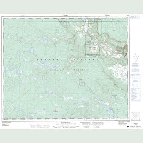 Canadian Topo Map - Hanceville - Map 092O14
