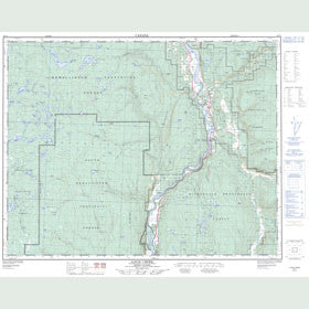 Canadian Topo Map - Louis Creek - Map 092P01