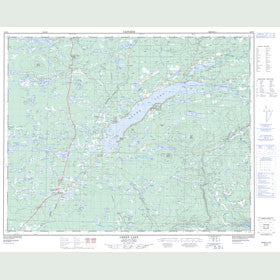 Canadian Topo Map - Green Lake - Map 092P06