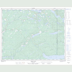 Canadian Topo Map - Bridge Lake - Map 092P07