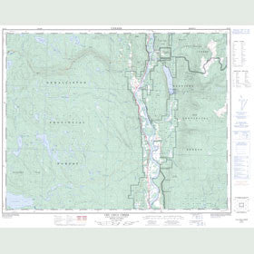 Canadian Topo Map - Chu Chua Creek - Map 092P08