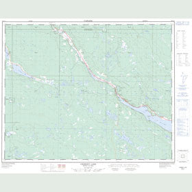 Canadian Topo Map - Chimney Lake - Map 092P13