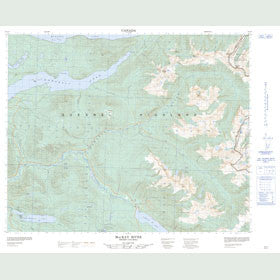 Canadian Topo Map - MacKay River - Map 093A07