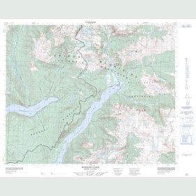 Canadian Topo Map - Hobson Lake - Map 093A09